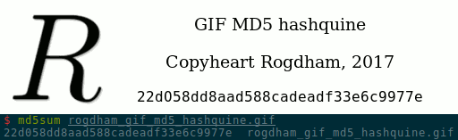 hashquine and md5sum